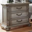 Liberty Furniture Messina Estates Bedroom 3 Drawer Night Stand - Item Number: 537-BR61
