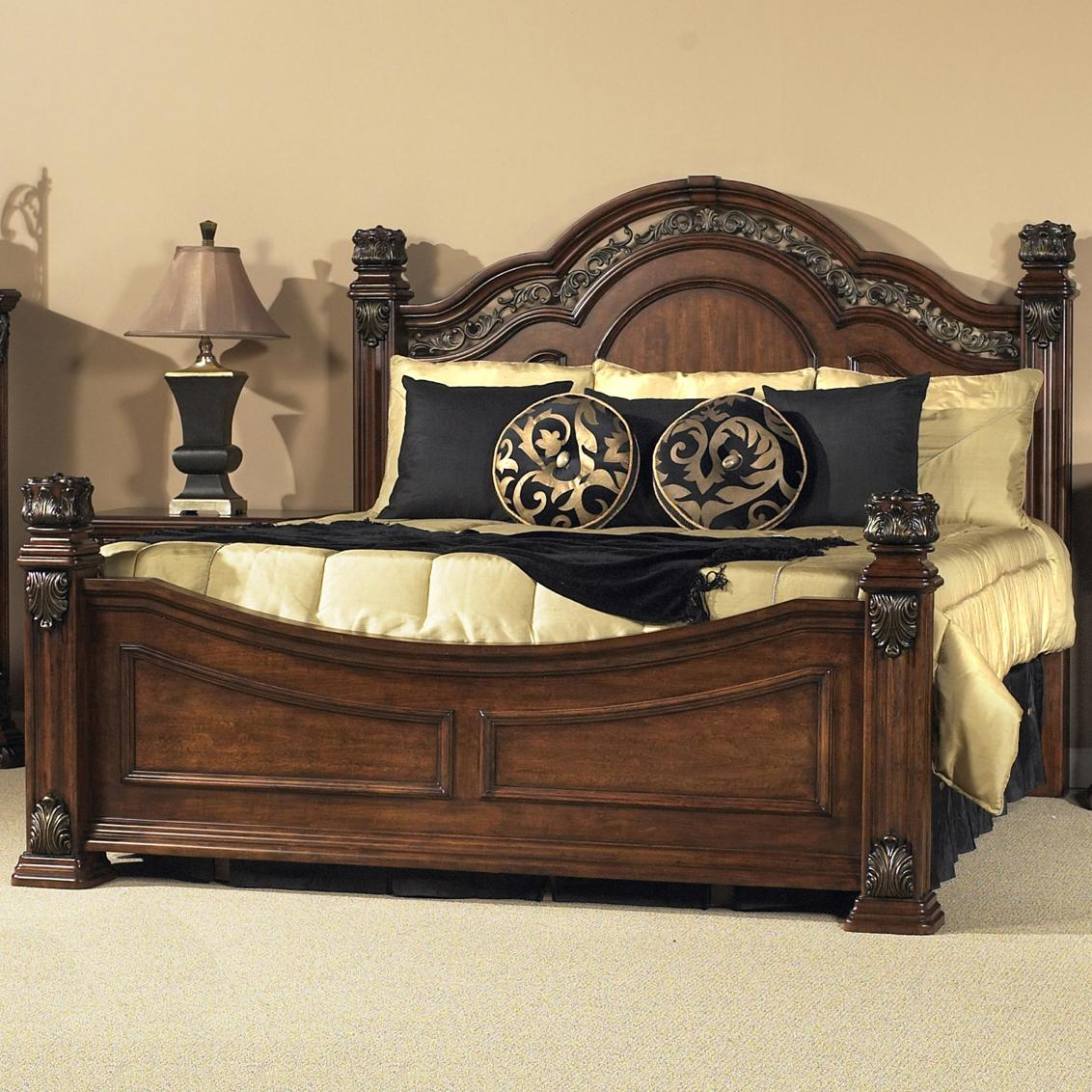 Liberty Furniture Messina Estates King Poster Bed - Item Number: 737-BR03+BR04+2xBR73