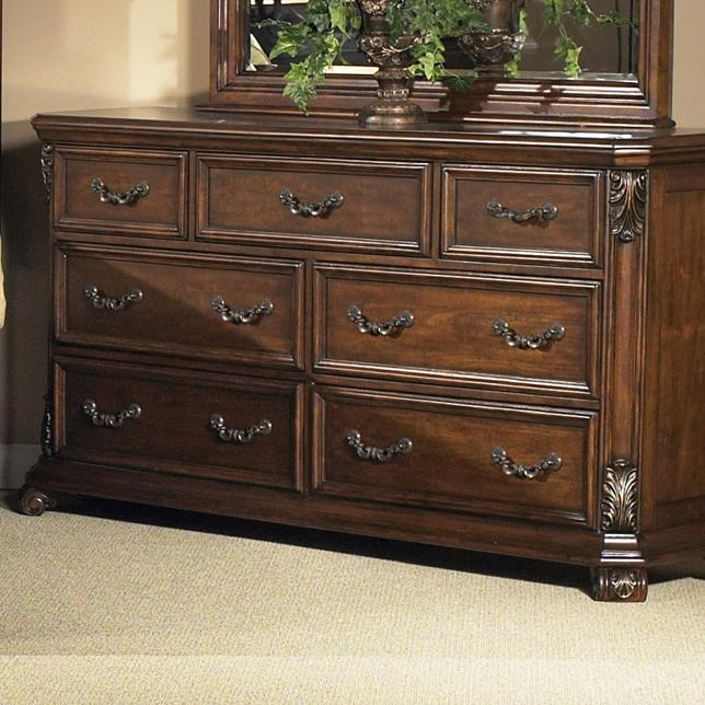 Liberty Furniture Messina Estates 7 Drawer Dresser - Item Number: 737-BR31