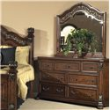 Liberty Furniture Messina Estates Traditional 7 Drawer Dresser - Shown with Mirror