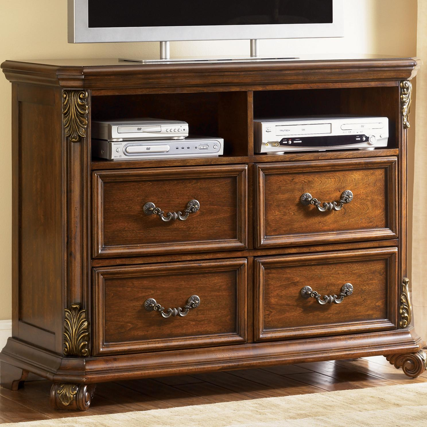 Liberty Furniture Messina Estates 4 Drawer Media Chest - Item Number: 737-BR45