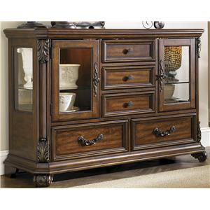 Liberty Furniture Messina Estates Glass Door Server
