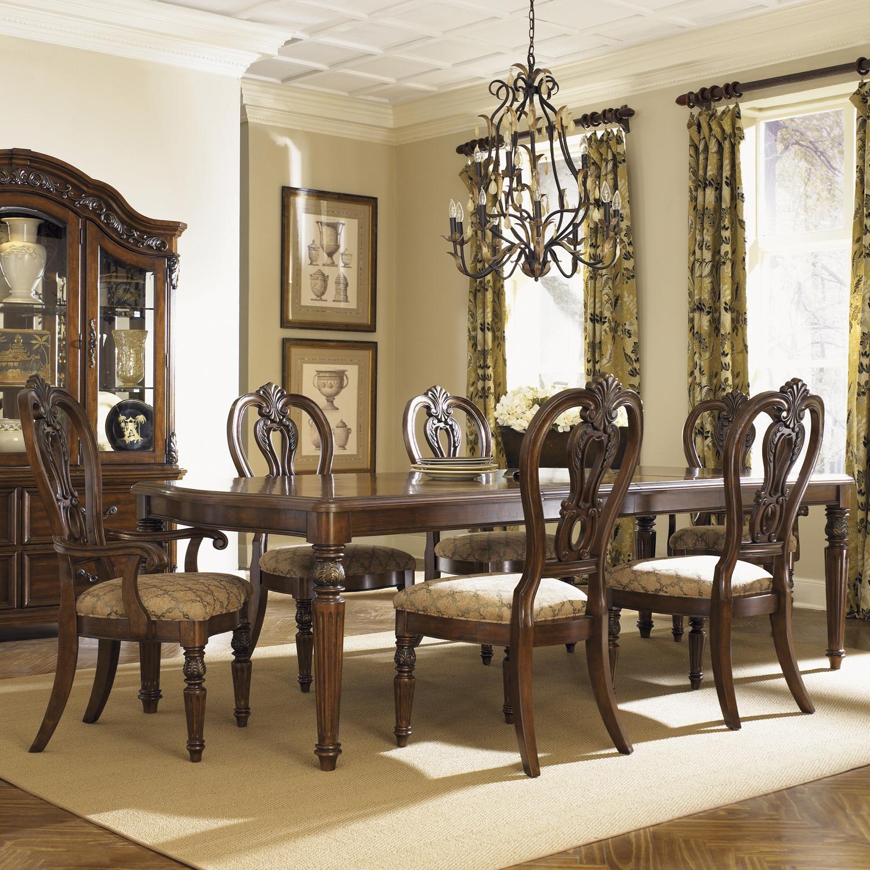 Liberty Furniture Messina Estates 7 Piece Dining Set - Item Number: 737-T4408+2xC2501A+4xS