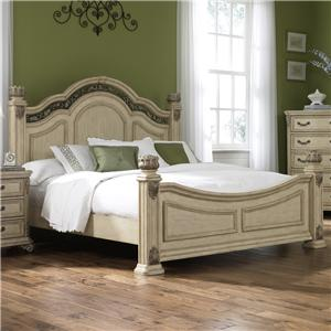 Liberty Furniture Messina Ivory Queen Poster Bed