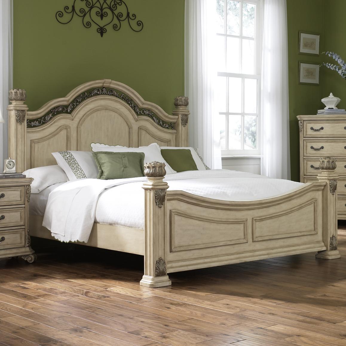 Liberty Furniture Messina Estates II King Poster Bed - Item Number: 837-BR03+04+73