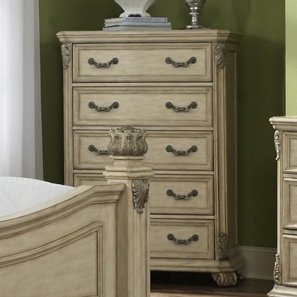 Liberty Furniture Messina Estates II 5 Drawer Chest - Item Number: 837-BR41