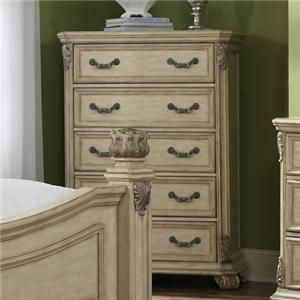 Liberty Furniture Messina Ivory 5 Drawer Chest