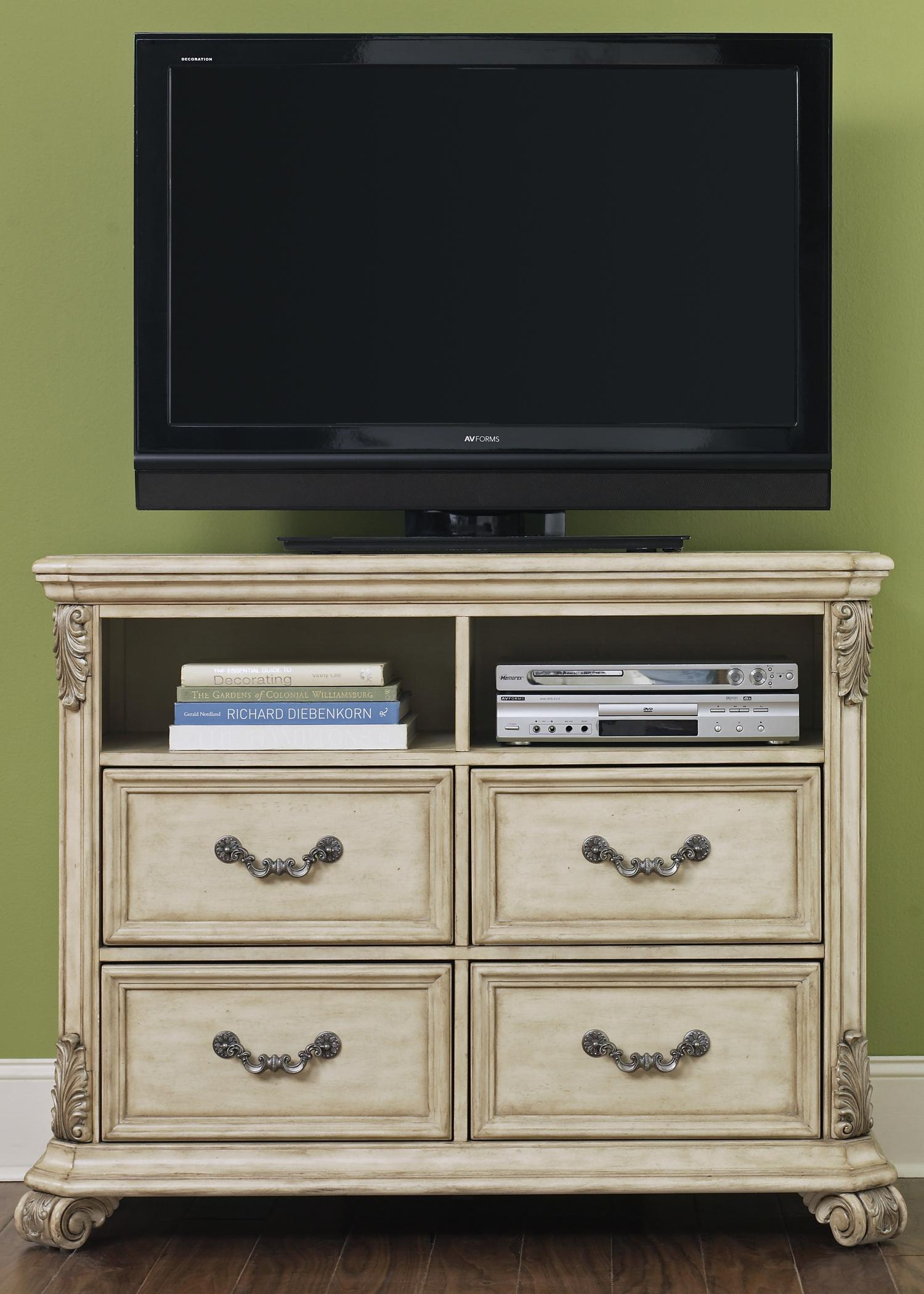 Liberty Furniture Messina Estates II 4 Drawer Media Chest - Item Number: 837-BR45