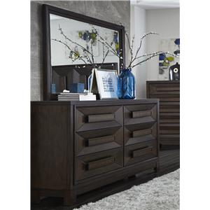 Liberty Furniture Midtown Bedroom Dresser and Mirror
