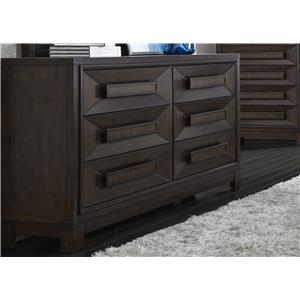 Liberty Furniture Midtown Bedroom 6 Drawer Dresser