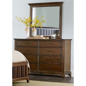 Liberty Furniture Mill Creek 458 Dresser & Mirror