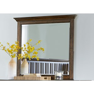 Liberty Furniture Mill Creek 458 Mirror with Wood Frame