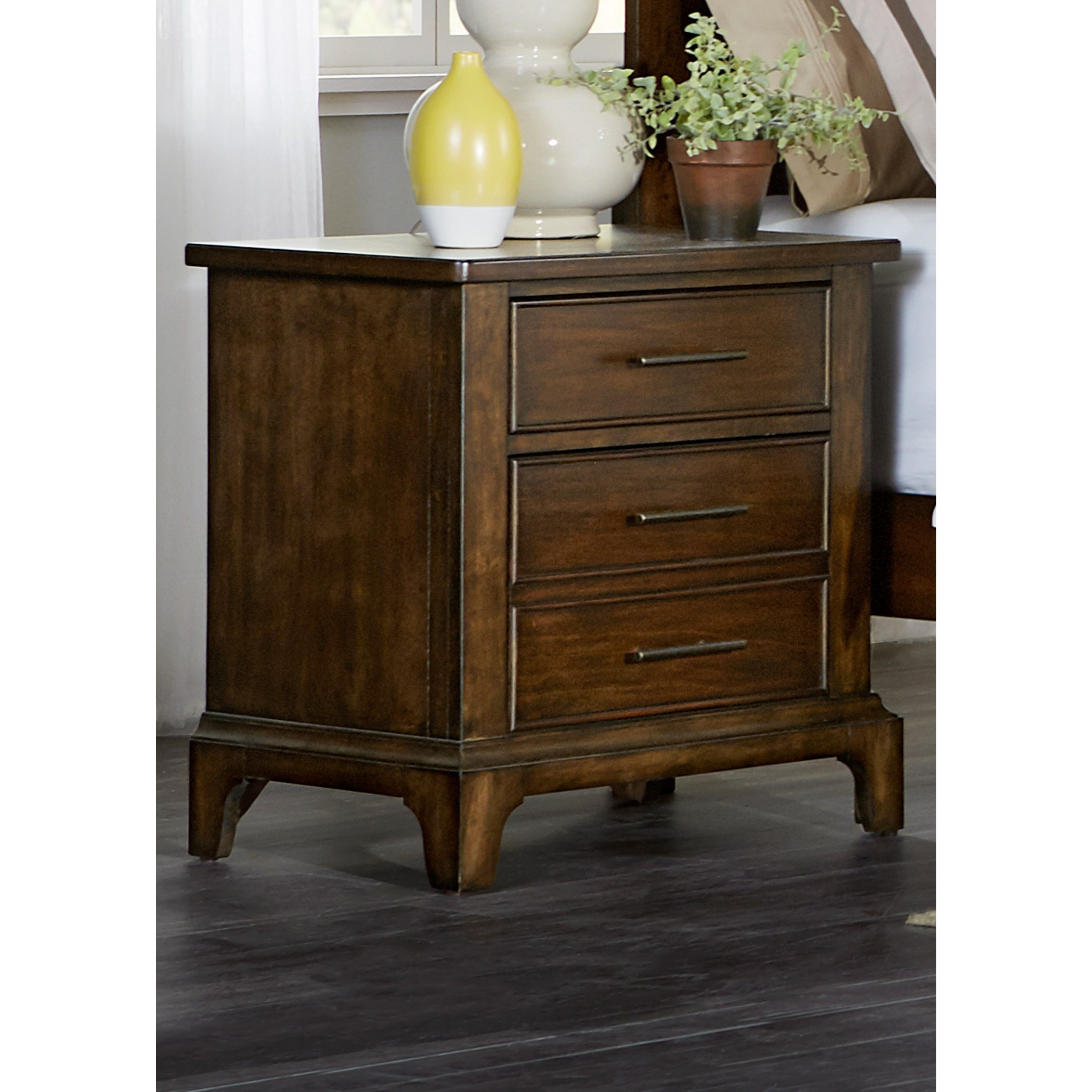 shelf round in jofran brown end and riverside p drawer table walnut