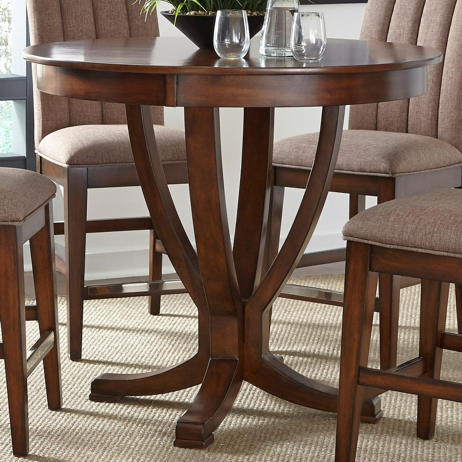 Liberty Furniture Mirage Dining Round Gathering Table - Item Number: 234-GT4242+GT4242B