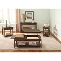 Liberty Furniture Mitchell Occasional Contemporary Sofa Table with 2-Drawers