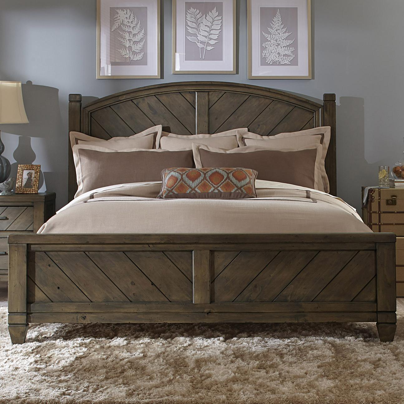 Liberty Furniture Modern Country King Poster Bed - Item Number: 833-BR-KPS