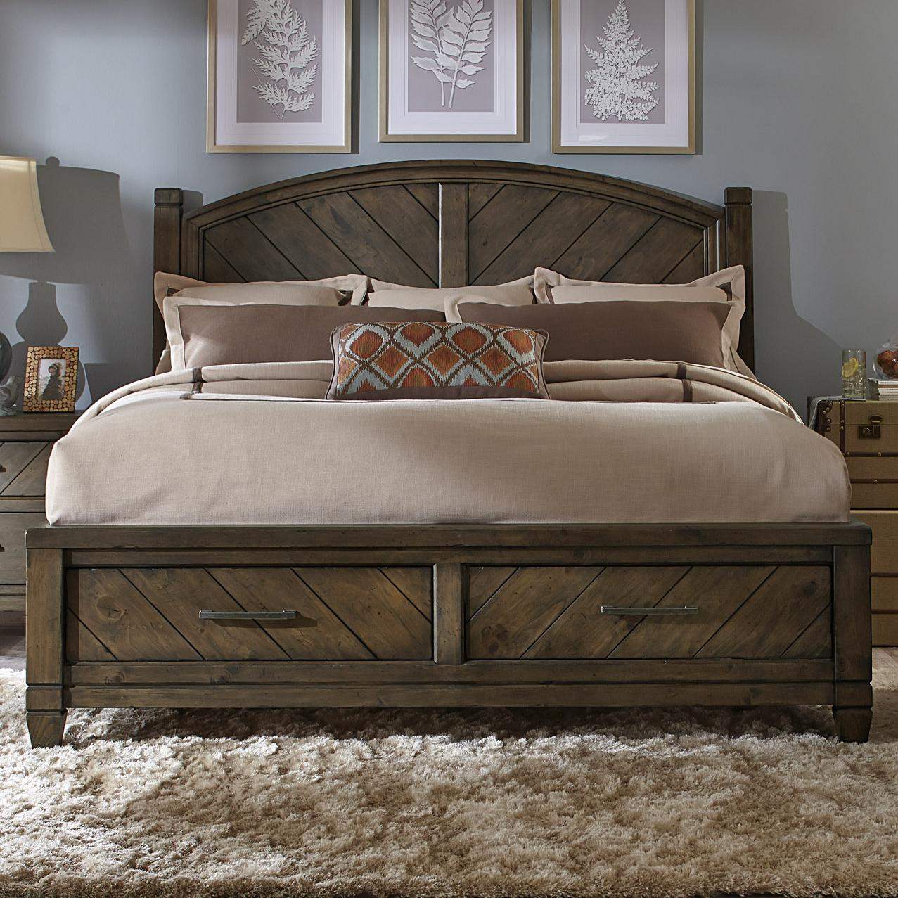 Liberty Furniture Modern Country King Storage Bed - Item Number: 833-BR-KSB