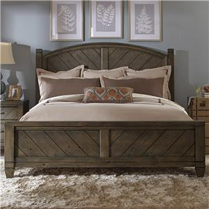Vendor 5349 Modern Country Queen Poster Bed