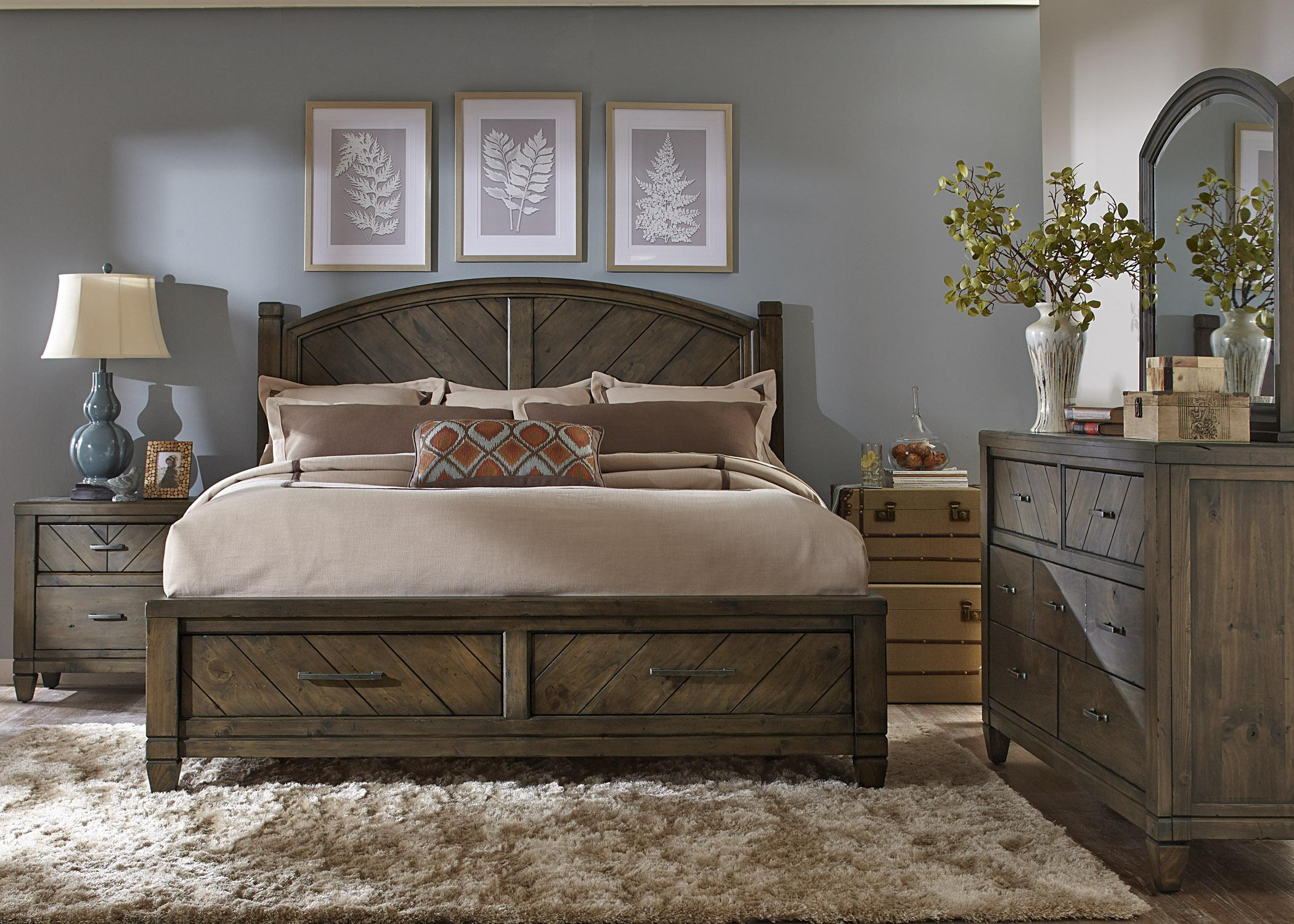 Modern Country Liberty King Bed