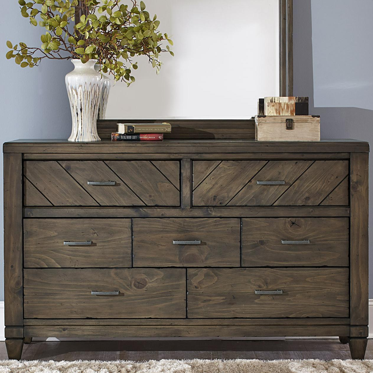 Liberty Furniture Modern Country 7 Drawer Dresser - Item Number: 833-BR31