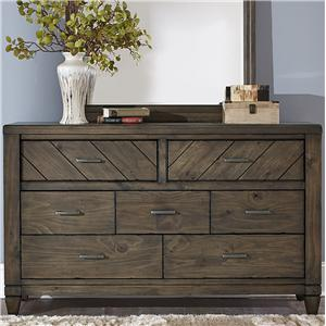 Vendor 5349 Modern Country 7 Drawer Dresser
