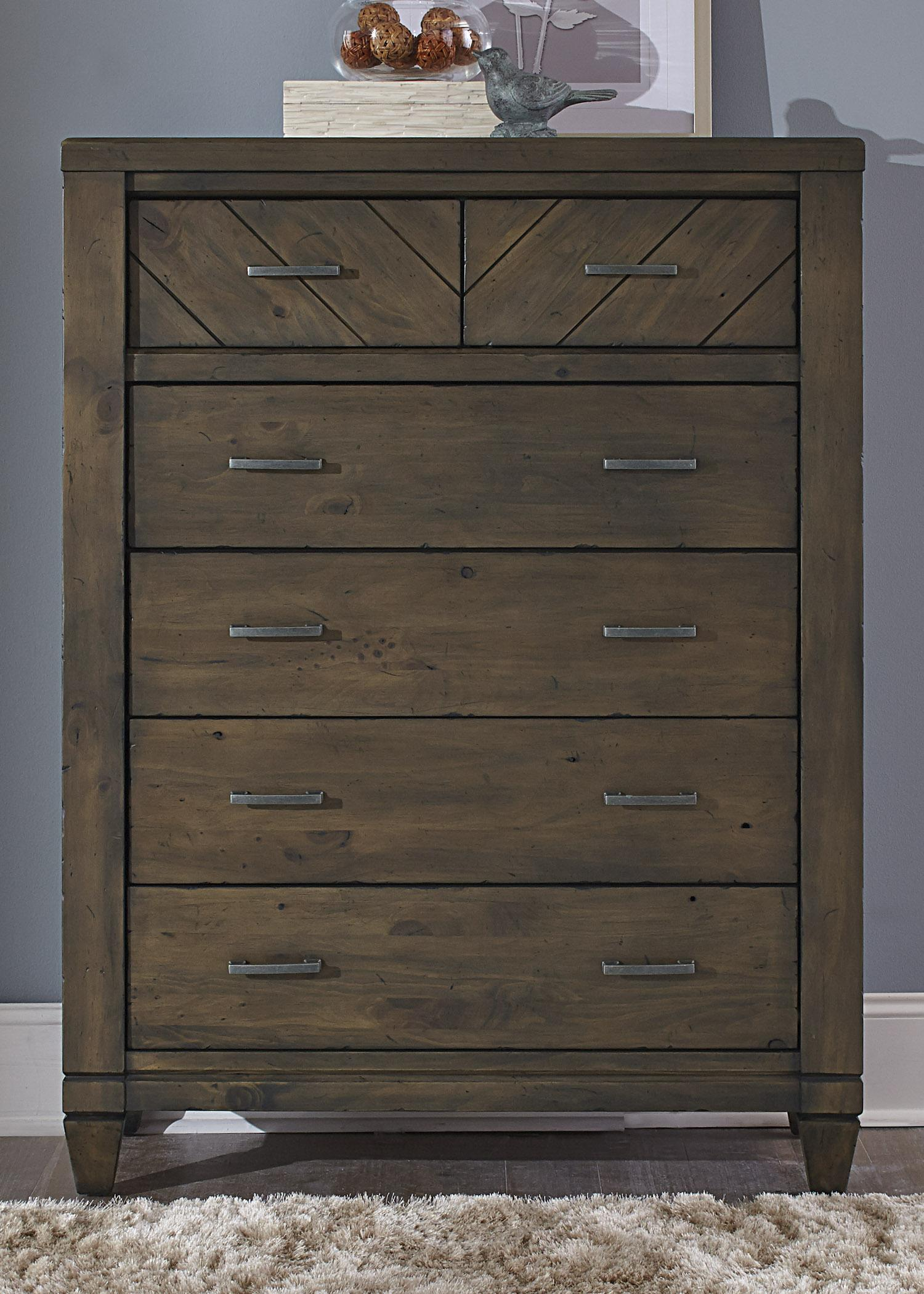 Liberty Furniture Modern Country 6 Drawer Chest - Item Number: 833-BR41
