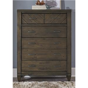 Liberty Furniture Modern Country 6 Drawer Chest