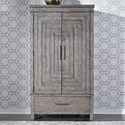 Liberty Furniture Modern Farmhouse Armoire - Item Number: 406-BR-ARM