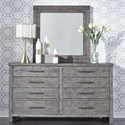 Liberty Furniture Modern Farmhouse Dresser and Mirror Set - Item Number: 406-BR-DM
