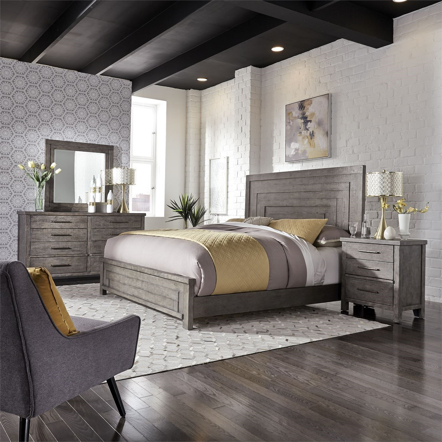 Liberty Furniture Modern Farmhouse King Bedroom Group