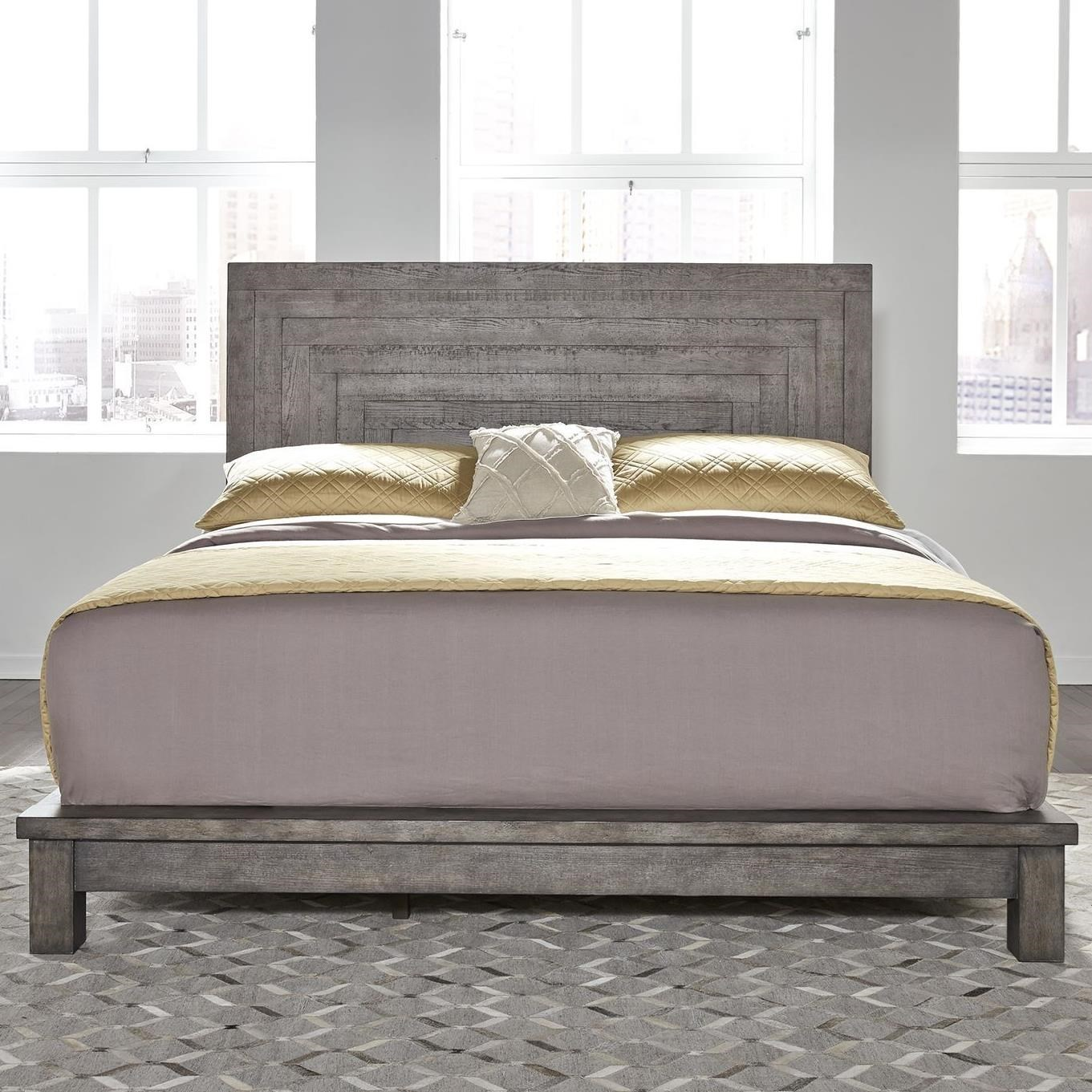Picture of: Liberty Furniture Modern Farmhouse Contemporary King Platform Bed Zak S Home Platform Beds Low Profile Beds