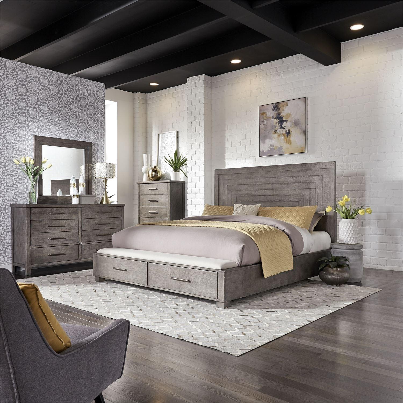 Modern farmhouse contemporary queen storage bed with 2 - Modern queen bed with storage ...
