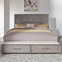 Liberty Furniture Modern Farmhouse Queen Storage Bed - Item Number: 406-BR-QSB