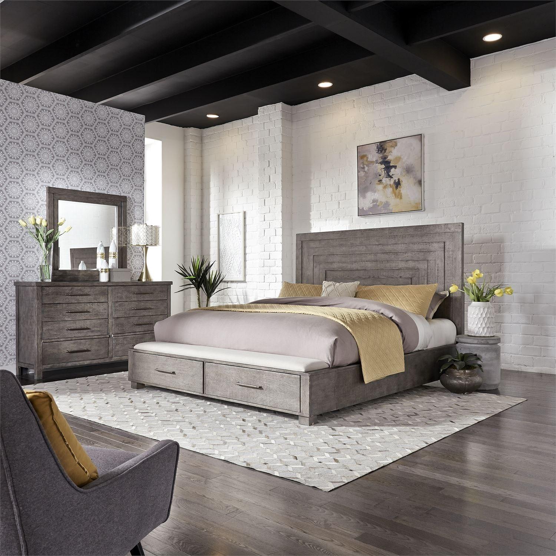 Modern Farmhouse Bedroom: Vendor 5349 Modern Farmhouse 406-BR-QSBDM Queen Bedroom
