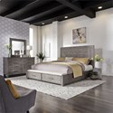 Liberty Furniture Modern Farmhouse Queen Bedroom Group - Item Number: 406-BR-QSBDM