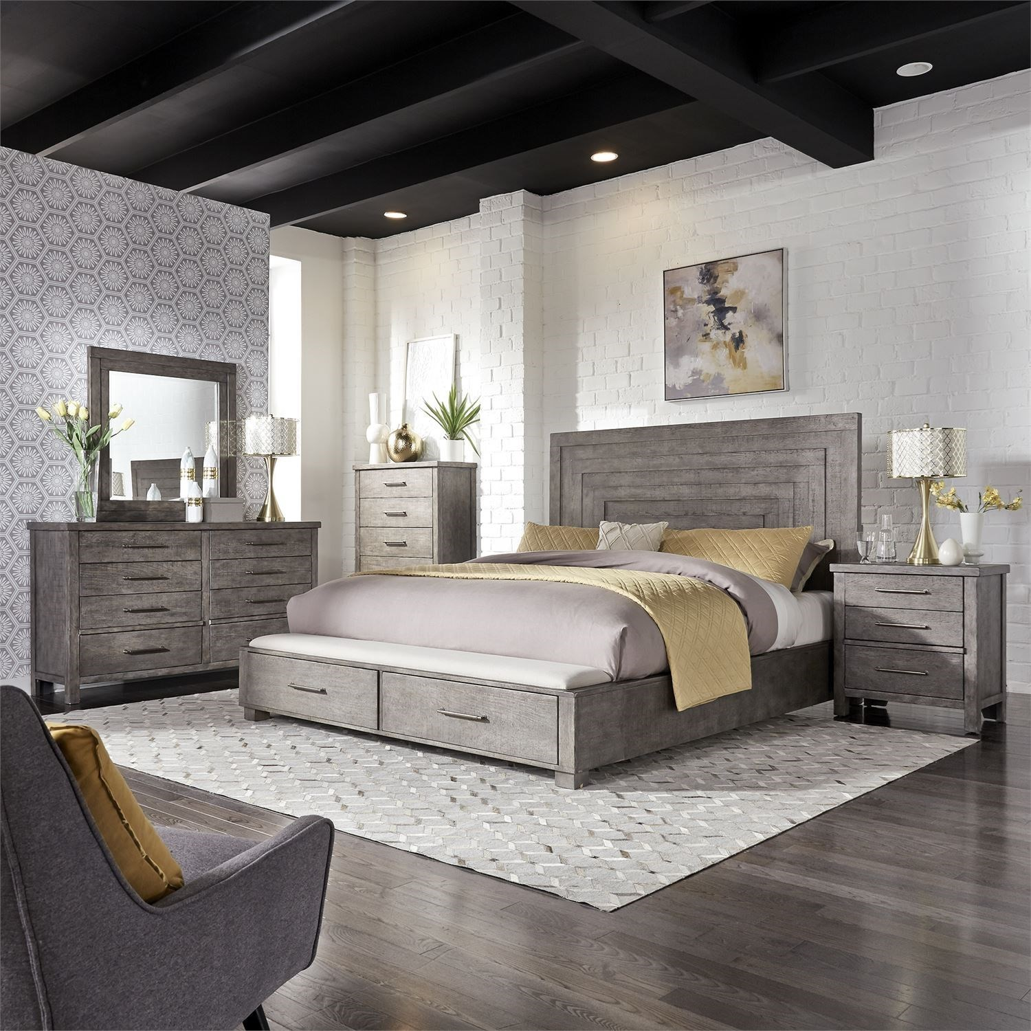 Liberty Furniture Modern Farmhouse Queen Bedroom Group