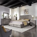 Liberty Furniture Modern Farmhouse Queen Bedroom Group - Item Number: 406-BR-QSBDMCN