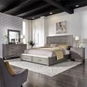 Liberty Furniture Modern Farmhouse Queen Bedroom Group - Item Number: 406-BR-QSBDMN