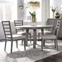 Liberty Furniture Modern Farmhouse 5-Piece Round Table and Chair Set - Item Number: 406-DR-5ROS