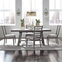 Liberty Furniture Modern Farmhouse 5-Piece Trestle Table and Chair Set - Item Number: 406-DR-5TRS