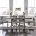 Liberty Furniture Modern Farmhouse 7-Piece Trestle Table and Chair Set - Item Number: 406-DR-7TRS