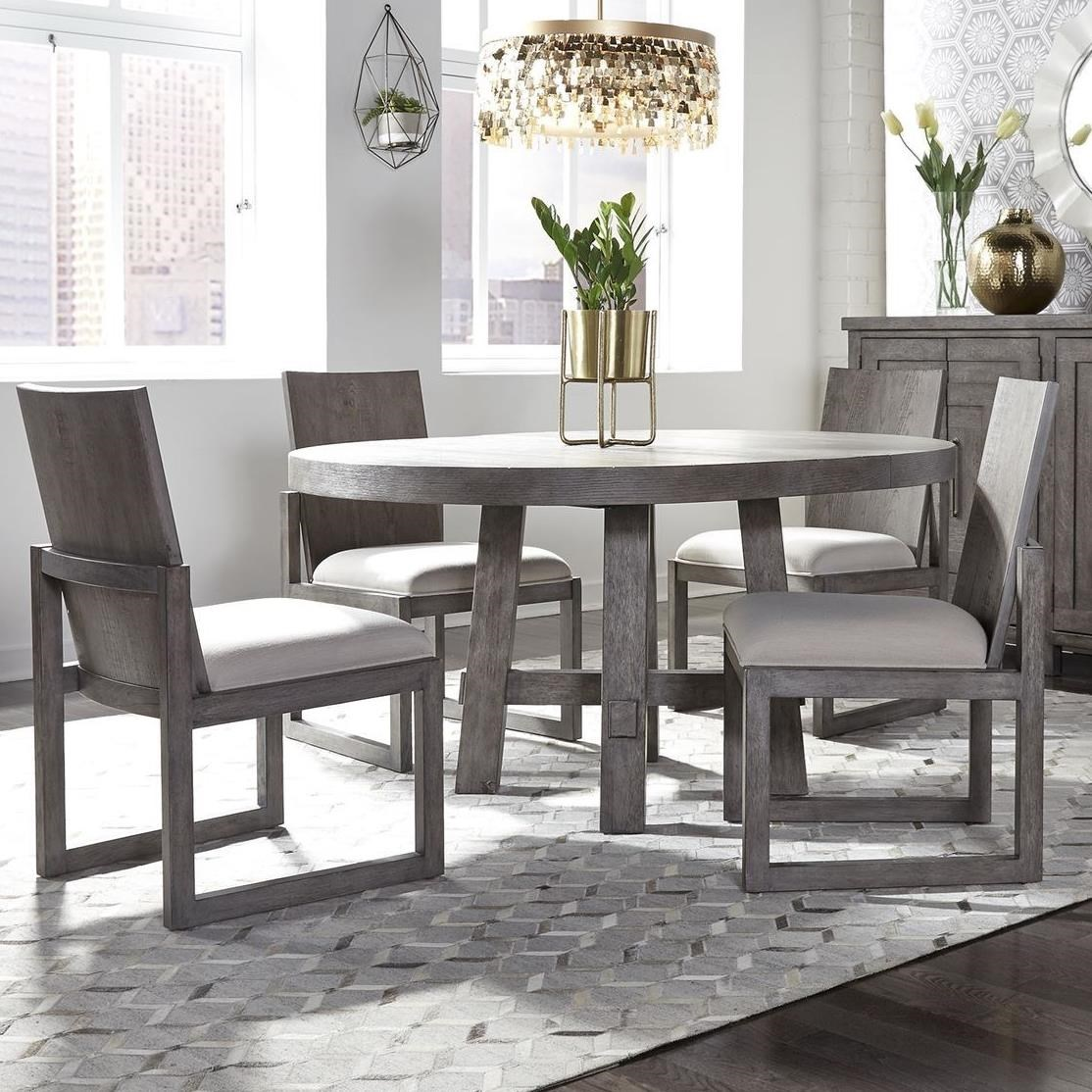 Freedom Furniture Modern Farmhouse 5-Piece Round Table and ...