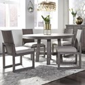 Liberty Furniture Modern Farmhouse 5-Piece Round Table and Chair Set - Item Number: 406-DR-O5ROS