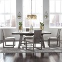 Liberty Furniture Modern Farmhouse 5-Piece Trestle Table and Chair Set - Item Number: 406-DR-O5TRS