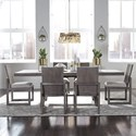 Liberty Furniture Modern Farmhouse 7-Piece Trestle Table and Chair Set - Item Number: 406-DR-O7TRS