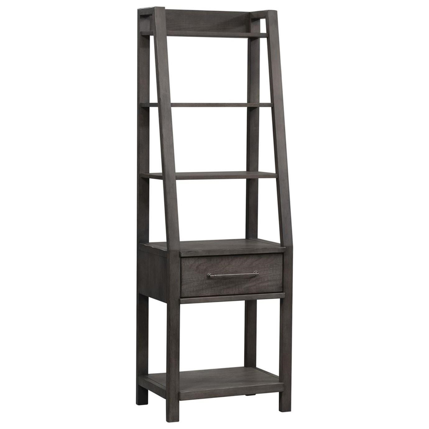 Modern Farmhouse Leaning Bookcase by Liberty Furniture at Beck's Furniture