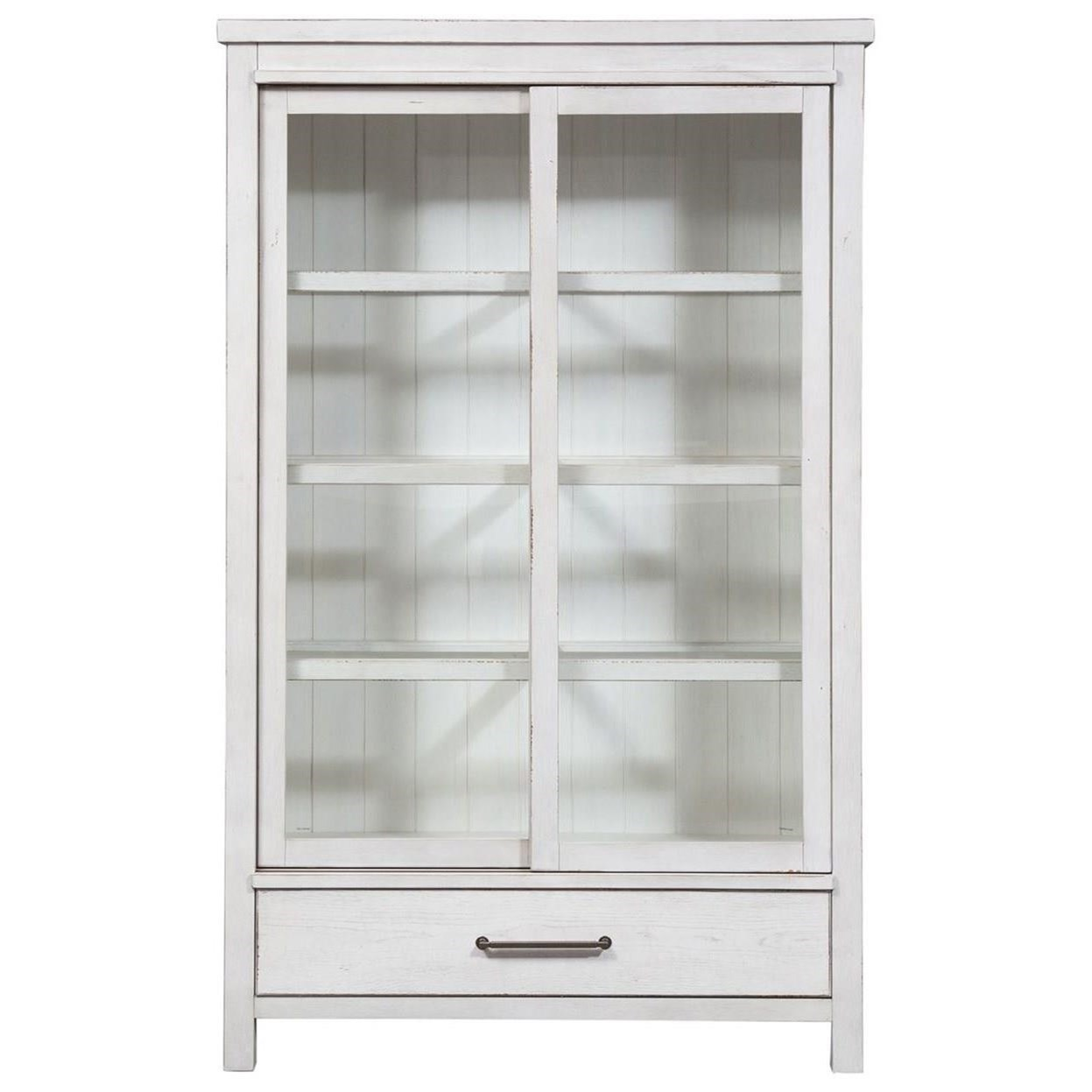 Modern Farmhouse Display Cabinet by Liberty Furniture at Beck's Furniture