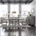 Liberty Furniture Modern Farmhouse 7-Piece Trestle Table and Chair Set - Item Number: GRP-406-TBL6