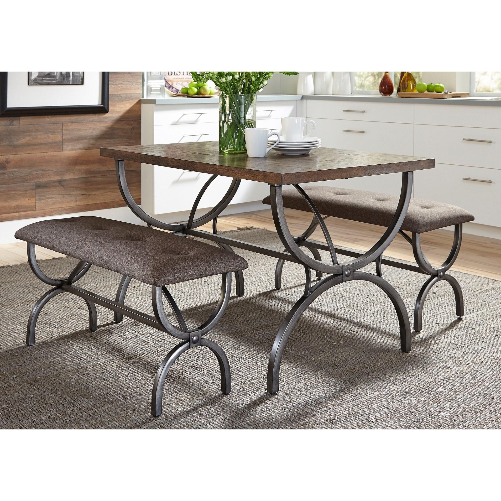 Liberty Furniture Monroe Dining 3 Piece Rectangular Table Set