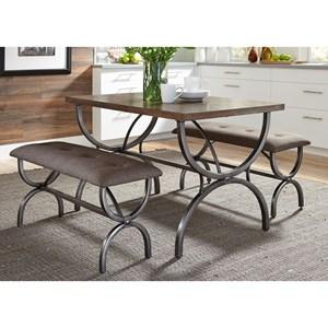 Sarah Randolph-J Monroe Dining 3 Piece Rectangular Table Set